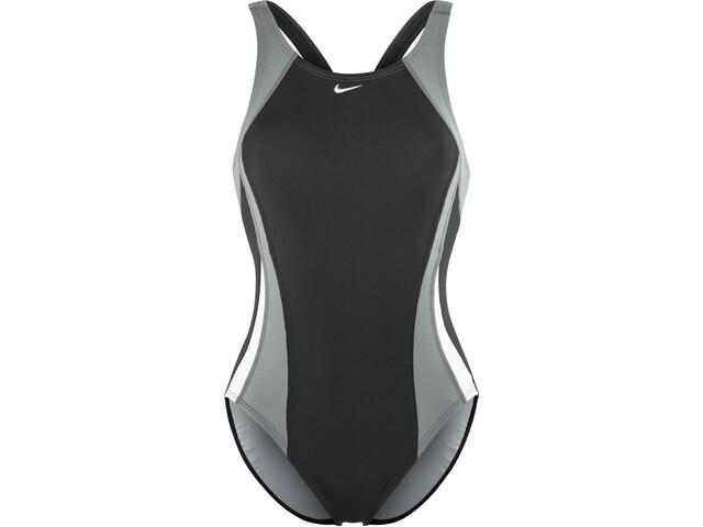 Nike Swim Poly Color Surge Svømmedragt Damer grå/sort | swim_clothes